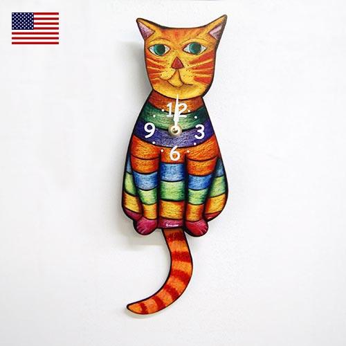 画像1: 猫の掛け時計 RAINBOW 【標準小売価格:7500円(税抜)】