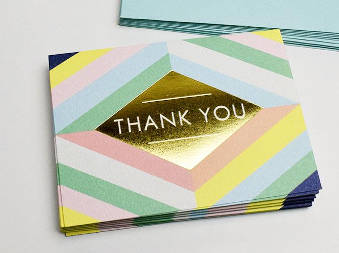 画像1: 【GALISON】 メッセージカードセット(Thank you / ありがとう ) GEOMETRIC PASTEL (10枚入り)【標準小売価格:1,800円(税抜)】