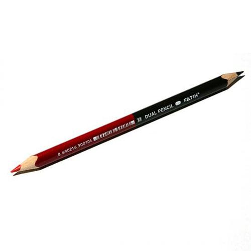 画像1: FATiH ファティー 赤黒ダブルペンシル【標準小売価格:200円(税抜)】
