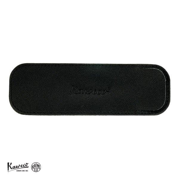 画像1: KAWECO カヴェコ エコ ソフトレザーロングケース 2本用 ブラック 【標準小売価格:3,800円】 (1)