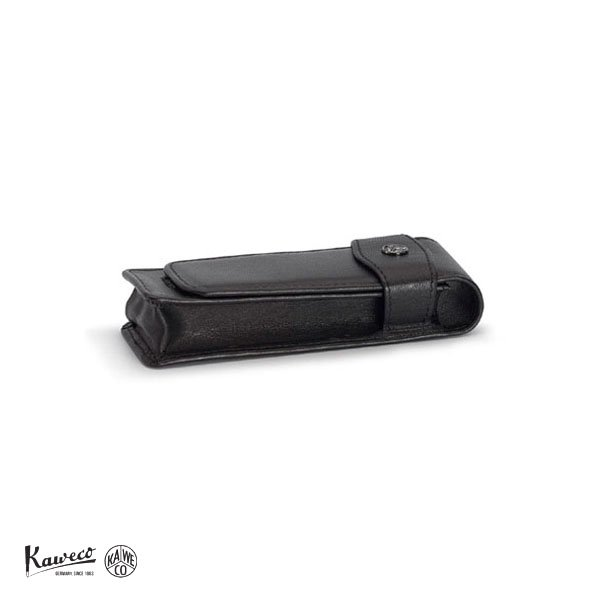 画像1: KAWECO カヴェコ ペンケース ショートタイプ 2本用 ブラック 【標準小売価格:5,500円】 (1)