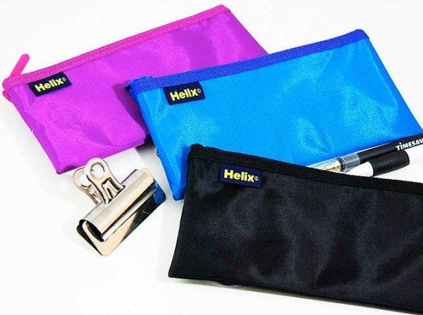 画像1: Helix へリックス ナイロンペンケース 3色アソート【標準小売価格:500円】 (1)