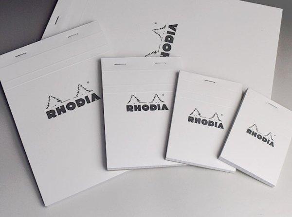 画像1: RHODIA ロディア ブロックロディア No.16(ホワイト/方眼) 【標準小売価格:550円】 (1)