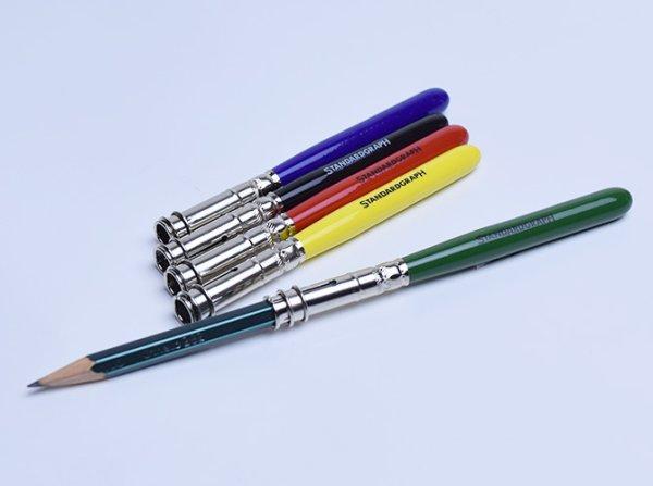 画像1: STANDARDGRAPH スタンダードグラフ ペンシルホルダー 鉛筆補助軸 / カラー 【標準小売価格:620円】 (1)