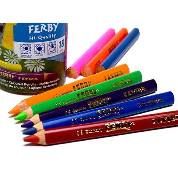 画像1: LYRA リラ FERBY ファービー 色鉛筆 ショート種類 塗装軸 【標準小売価格:6色 1,100円/12色 2,200円/18色 3,500円】 (1)