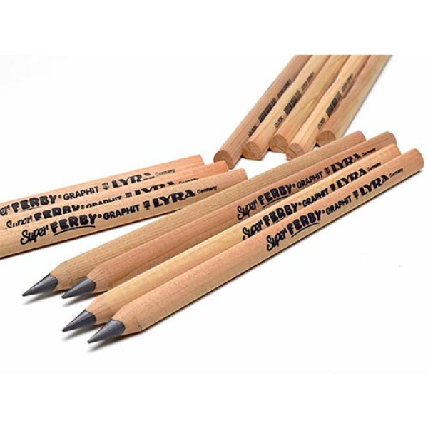 画像1: LYRA リラ Super FERBY スーパー ファービー 太軸三角鉛筆 (B) 白木軸 【標準小売価格:200円】 (1)