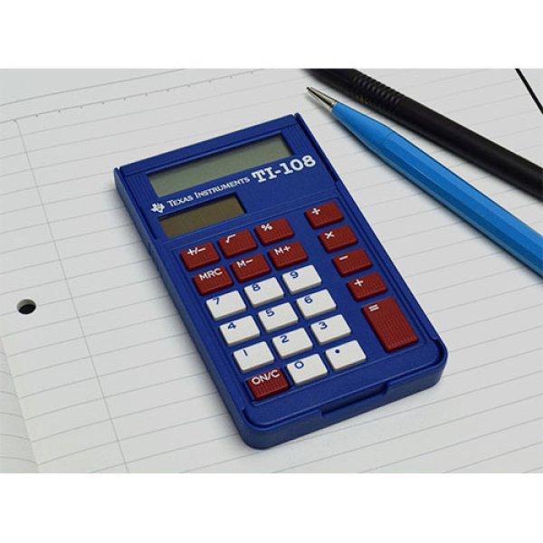 画像1: Texas Instruments TI-108 カバー付き 電卓 ( 8桁 )【標準小売価格:1,900円】 (1)