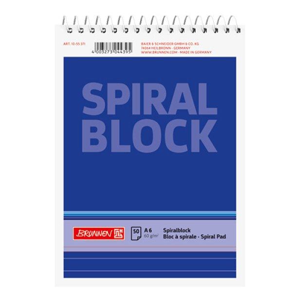 画像1: Brunnen ブルネン 縦開きリングノート A6(ブルー) 罫線【標準小売価格:260円】 (1)