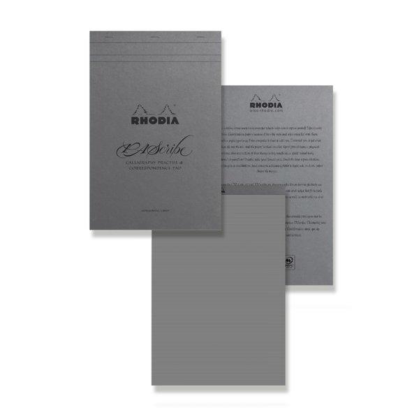 画像1: RHODIA ロディア PAScribe パスクライブ カリグラフィーパッドA4+ (グレー)【標準小売価格: 2,600円】 (1)