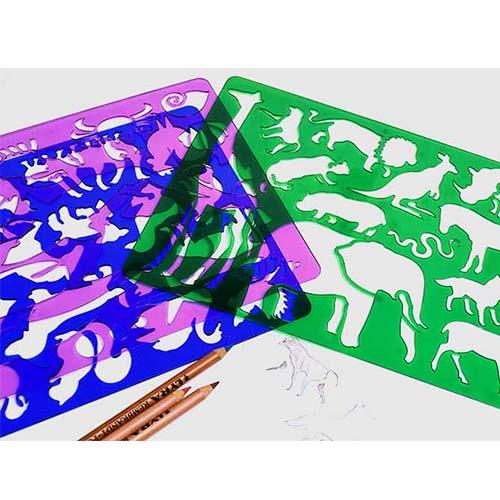 画像1: 【柄追加】KOH-I-NOOR コヒノール ドローイングテンプレート 【標準小売価格:300円(税抜)】