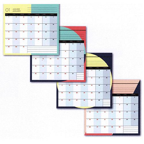 画像2: クオバディス × パピエ ティグル 2018 カレンダー プティプランニング 16×16cm 【標準小売価格:1,500円(税抜)】