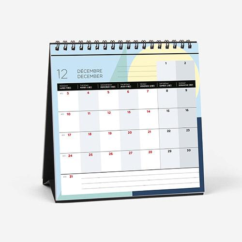 画像1: クオバディス × パピエ ティグル 2018 カレンダー プティプランニング 16×16cm 【標準小売価格:1,500円(税抜)】